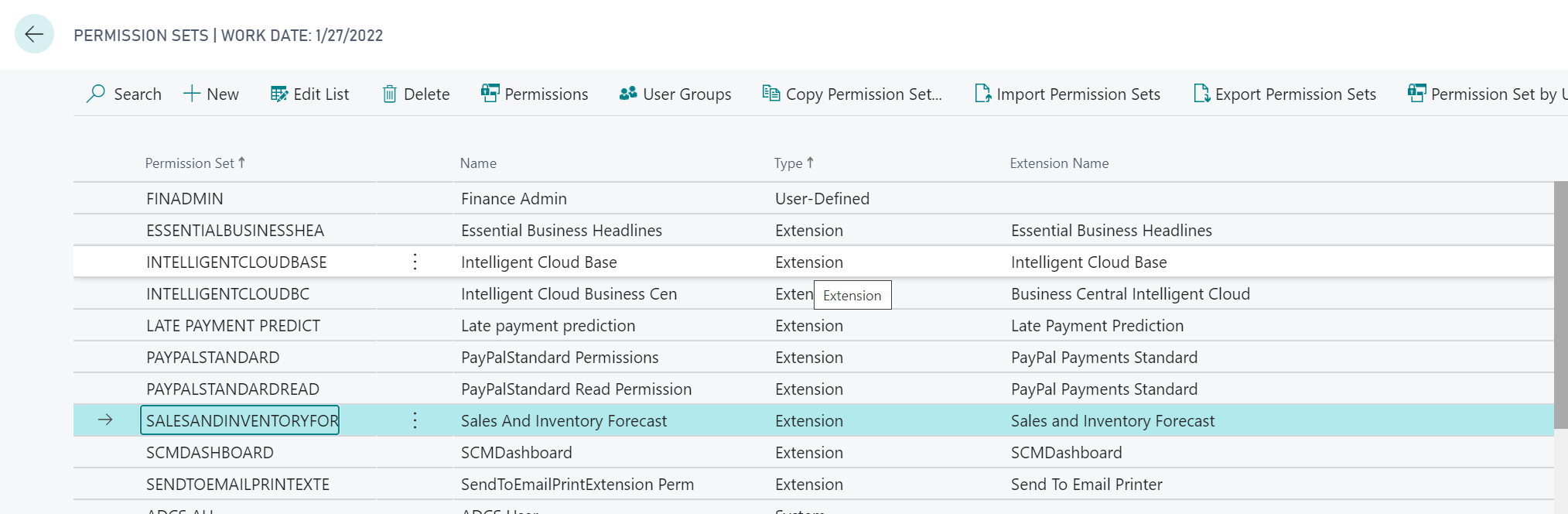 How to work with user-defined permission sets